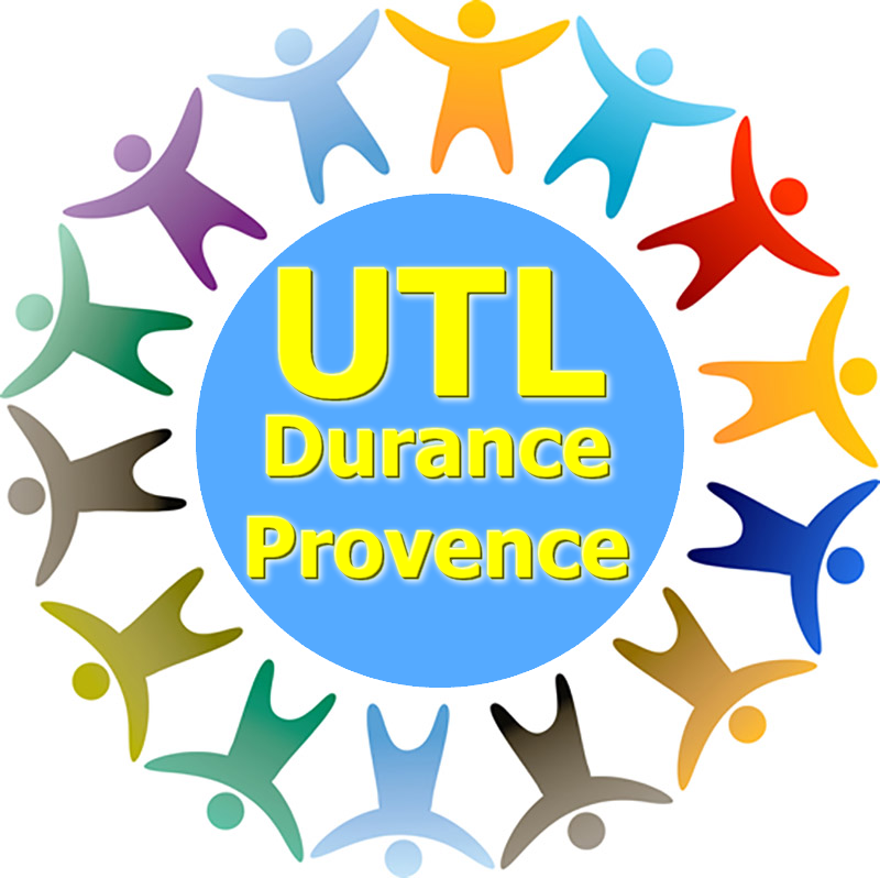 Logo UTL cyan-jaune